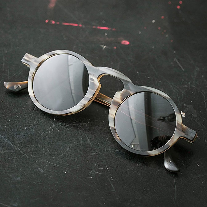 UMA WANG×RIGARDS / HORN+TITANIUM+COPPER SUNGLASSES / UW0008