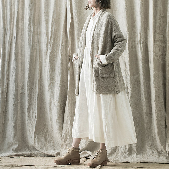 Cardigan, Dress / DANIEL ANDRESEN Shoes / NUTSA MODEBADZE